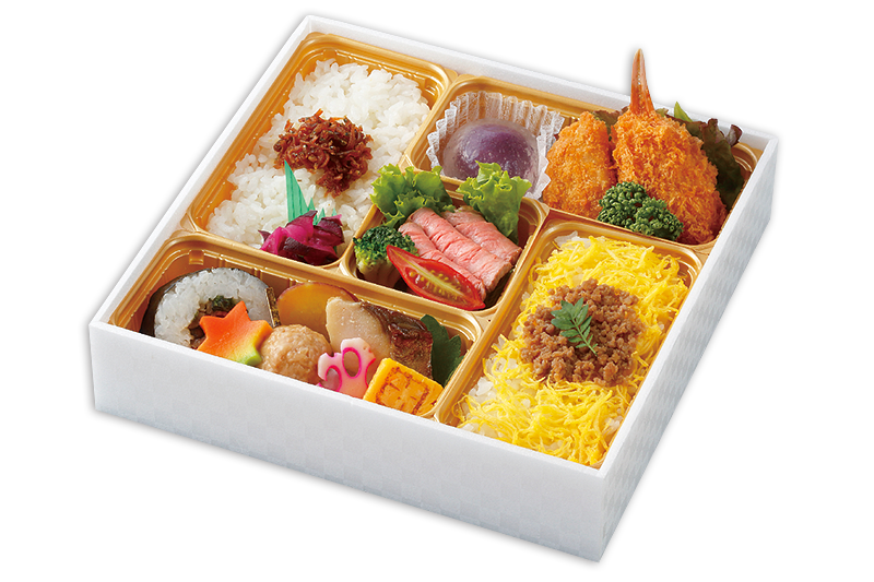彩り折箱~牡丹~